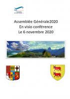 Compte rendu Assemblée Générale 2020